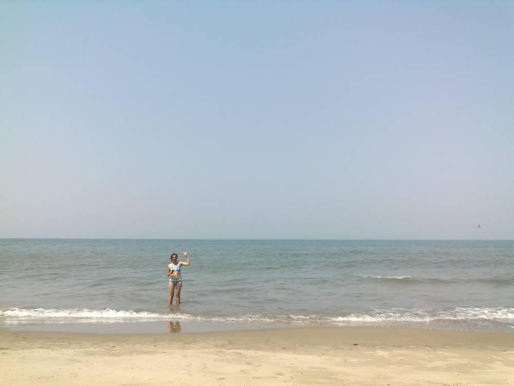 Ulrike at Ozran Beach
