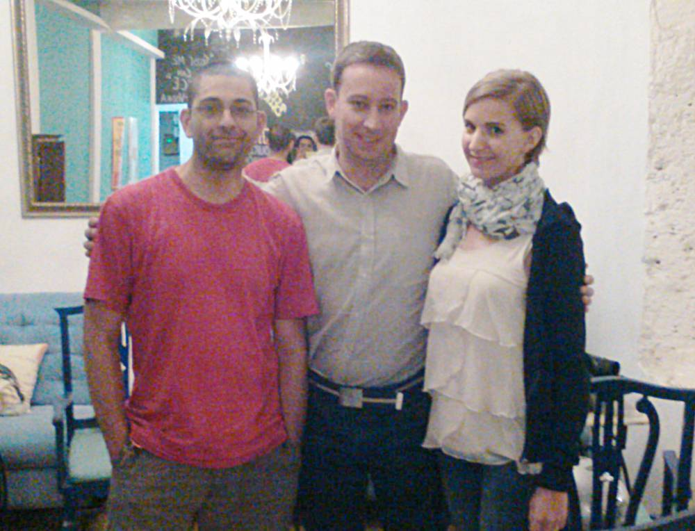 Yvan, Matt, and Becky